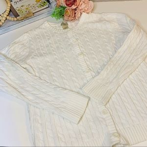 Ll bean cable cardigan sweater
